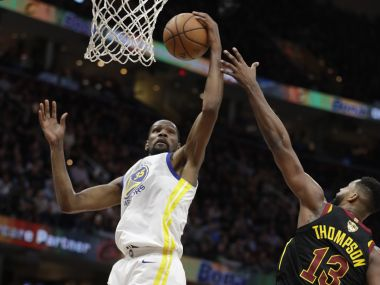 NBA Finals 2019 Warriors forward Kevin Durant to miss Game 4 due to calf strain Klay Thomspon could return