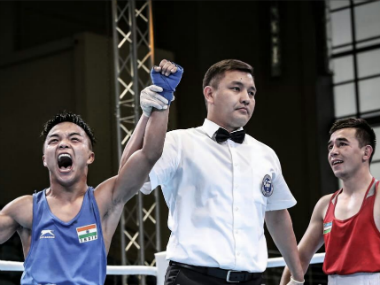 Presidents Cup Manipur boxer N Lalbiakkima stuns Olympic champion Hasanboy Dusmatov to enter semifinals
