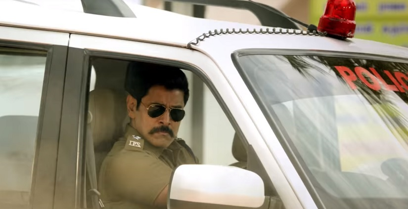 Saamy Square movie review Vikrams inimitable style lights up an otherwise insipid action entertainer