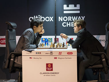 Norway Chess 2018 Magnus Carlsen suffers his first loss to Wesley So Viswanathan Anand draws yet again