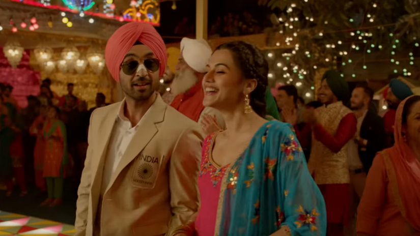 Soorma Diljit Dosanjh Taapsee Pannu dance to lively bhangra beats in new song Good Man Di Laaltain