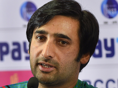 Afghanistan captain Asghar Stanikzai at the pre-match press conference. PTI
