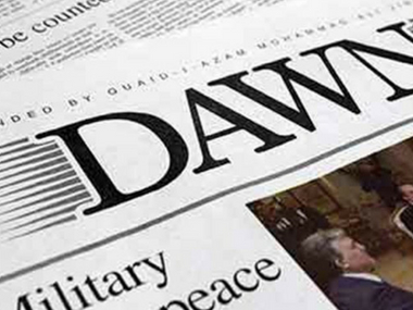 Pakistan daily Dawn says govt officials are barring its circulation in Sindh Punjab and Balochistan ahead of polls