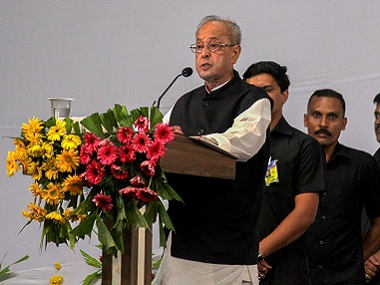 Not worried over slow rate of GDP growth in country says former president Pranab Mukherjee at Kolkata event