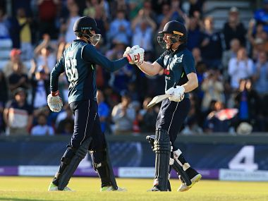Joe Root and Eoin Morgan weaved a 186 run partnership for the third wicket to guide England home with 33 balls to spare. AFP