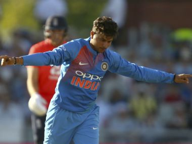 India's Kuldeep Yadav tormented England in the 1st T20I. AP