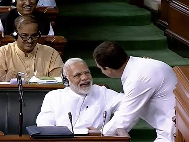 Rahul Gandhis hug to Modi a political statement not an expression of love the wink gave his game away