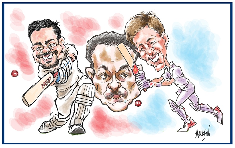 The fate of the India-England Test series for the coveted Pataudi trophy will depend a lot on which team deals with the psychological pressures better. Illustration courtesy Austin Coutinho