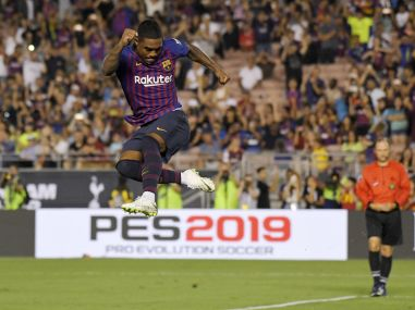 International Champions Cup New signing Arthur scores stunner in Barcelonas victory over Tottenham Hotspur
