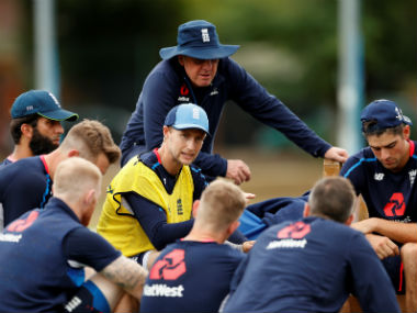 The England team at a practice session ahead of the first Test against India at Birmingham. Reuters