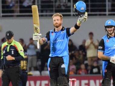 Guptill's heroics helped Worcestershire to a nine-wicket win over Northamptonshire. Image Courtesy: Twitter