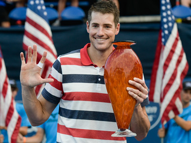 Atlanta Open American John Isner beats Ryan Harrison to win fifth tournament title to be ranked World No 9 in new rankings