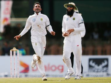 South Africa's Keshav Maharaj claimed eight wickets on Day 1 of the second Test. Reuters