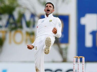 Keshav Maharaj finished with figures of 9 for 129, the second-best by a South African in Tests. Reuters