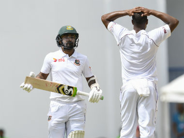 Liton Das was the only Bangladeshi batsman to offer any resistance to the West Indian attack whatsoever. AFP