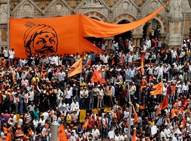 Maratha quota agitation BEST services suspended in Mumbai suburbs as protesters hurl stones at buses block roads