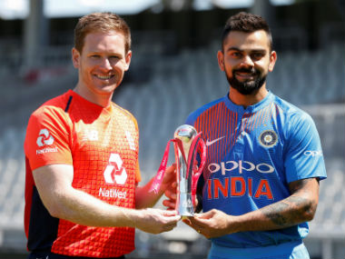Eoin Morgan and Virat Kohli, captain of England and India respectively. Reuters