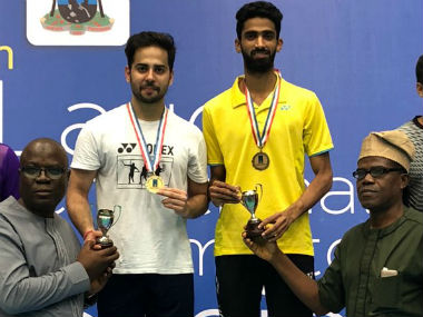 Indias Manu Attri and Sumeeth Reddy defend their mens doubles title at Lagos International in Nigeria
