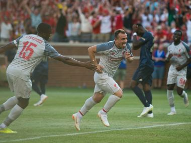 International Champions Cup Xherdan Shaqiri shines on debut to help Liverpool rout Manchester United