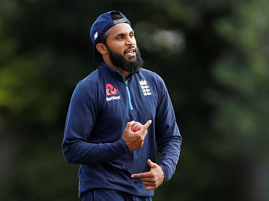 England's Adil Rashid practices during nets. Reuters