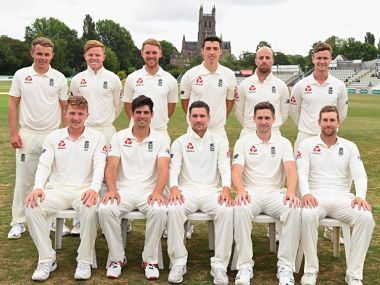 Group picture of England Lions who beat India A on Thursday. Image courtesy: Twitter/@englandcricket