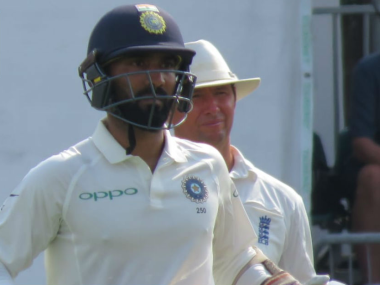 Dinesh Karthik top scored for India with 82 in first innings of only warm-up game against Essex.