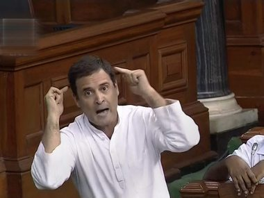 Rahul Gandhi appeared pleased with own show in Parliament but Speaker Sumitra Mahajan didnt approve of theatrics
