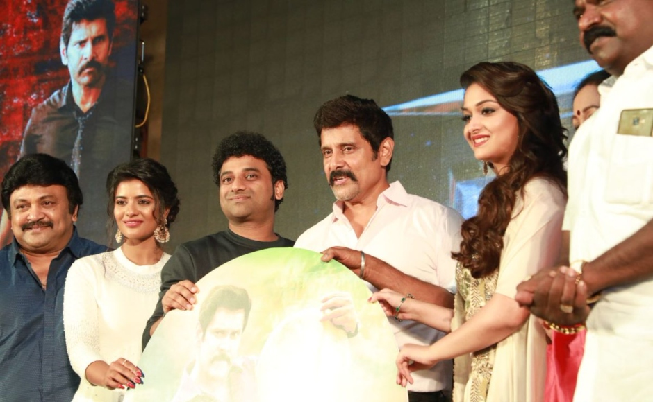 Vikram Aishwarya Rajessh attend audio launch of Sammy Square sequel to 2003 blockbuster