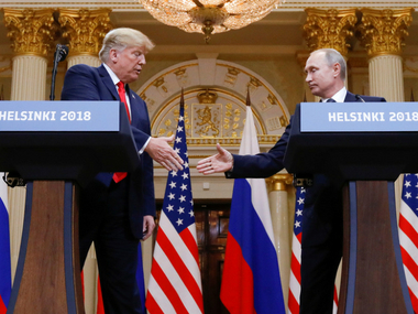 Vladimir Putin invites Donald Trump to Moscow says both he and US president want another meeting after Helsinki summit