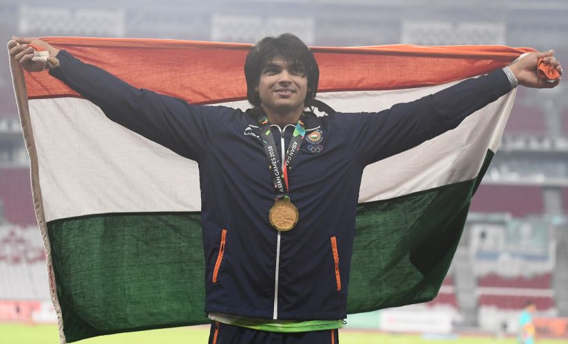 Asian Games 2018 Neeraj Chopra strikes gold with monklike composure PV Sindhu Indian paddlers create history