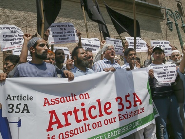SC to hear Article 35A Removing provision may cause fiery reaction in Jammu  Kashmir caution intel officials