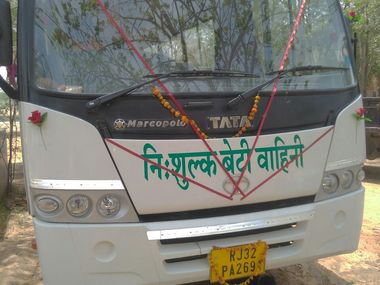 In Rajasthan villages a couples initiative to introduce free bus service for girls drives change boosts school enrolment