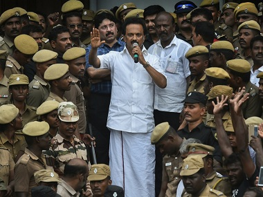 First DMK meet after Karunanidhis death Stalin doesnt mention Alagiri slams EPS govt for politicising Kalaignars burial