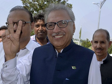 US congratulates Arif Alvi says its looks forward to working with Pakistan president on advancing regional peace stability