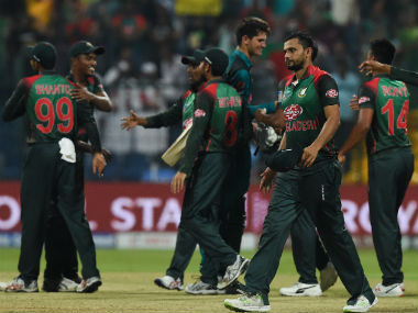 Bangladesh recovered from 12/3 to secure a 37-run win over Pakistan on Wednesday. AFP