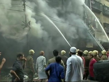 Bagri Market fire Blaze that gutted nearly 1000 shops in Kolkata still raging may take several hours to control say fire fighters