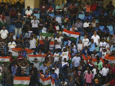 Indian fans cheer for their team during the Asia Cup. AP Photo