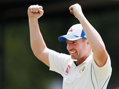 Australia A's Jon Holland took 9 wickets in the first unofficial Test against India A. Image courtesy: Twitter @ICC