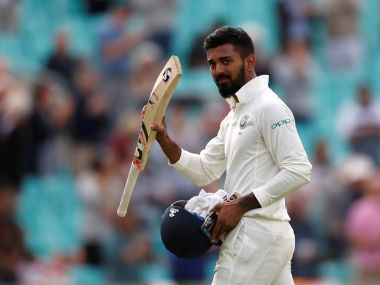 India's KL Rahul acknowledges the applause of the crowd after being dismissed. Reuters