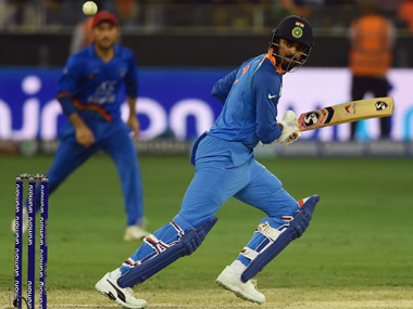 KL Rahul came on as an opener in India's draw against Afghanistan in the Asia Cup, scoring 60 runs. AFP
