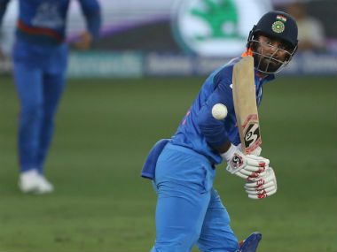 India's KL Rahul in action against Afghanistan. Twitter: @BCCI