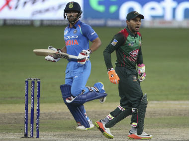 Kedar Jadhav walked off the pitch due to a hamstring injury, but returned to bat later to see India through. AP
