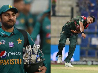 Pakistan captain Sarfraz Ahmed and Bangladesh captain Mashrafe Mortaza. AFP