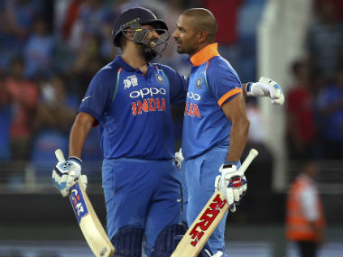 Rohit Sharma and Shikhar Dhawan added 210 runs for the opening wicket. AP