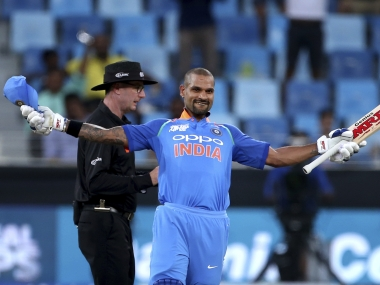 Shikhar Dhawan scored his 14th ODI century to help his team to victory over Hong Kong in their Asia Cup opener. AP