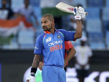 Shikhar Dhawan was back among the runs, posting a 120-ball 127 against Hong Kong. AP