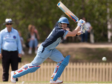Steve Smith in action for Sutherland against Mosman. AFP