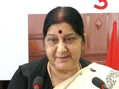 Sushma Swaraj says 17 coordinators appointed in Tripoli to help Indians leave Libya Indian embassy helping people with exit visas