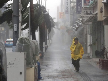 Typhoon Trami batters Okinawa Nine injured over 600 people shifted to shelters storm progresses towards Japan mainland