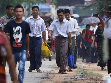 Myanmar frees Reuters journalists but fails to own up to violating human rights and press freedom
